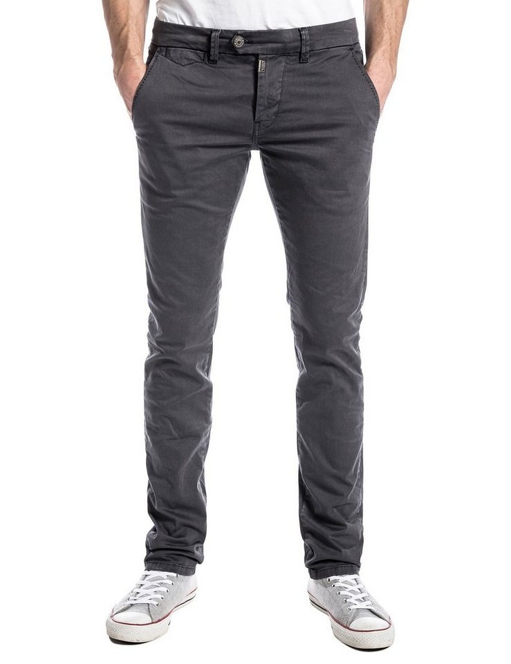 TIMEZONE Hosen lang »JannoTZ chino pants« in grey shadow