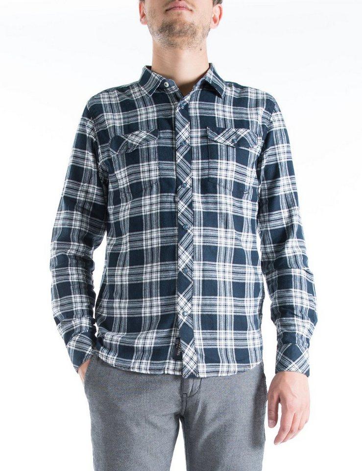TIMEZONE Hemden »WayneKentTZ« in black white check