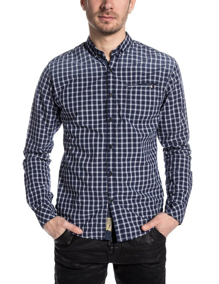 TIMEZONE Hemden »CommonTZ« in blue denim check