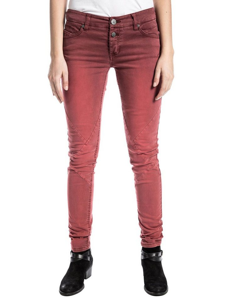TIMEZONE Hosen lang »NalaTZ 5-pocket pants« in riot red