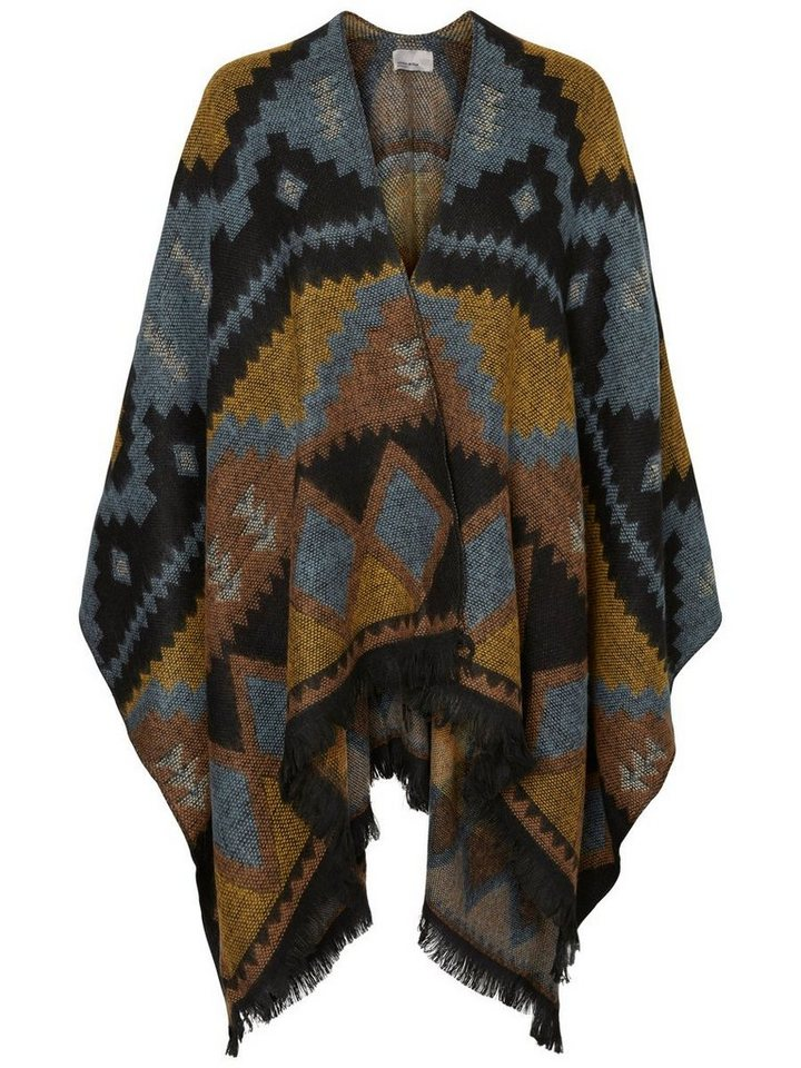Vero Moda Gestrickter Poncho in North Atlantic