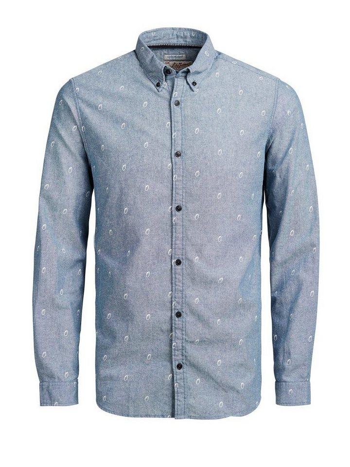 Jack & Jones Leichtes Freizeithemd in Blue Graphite