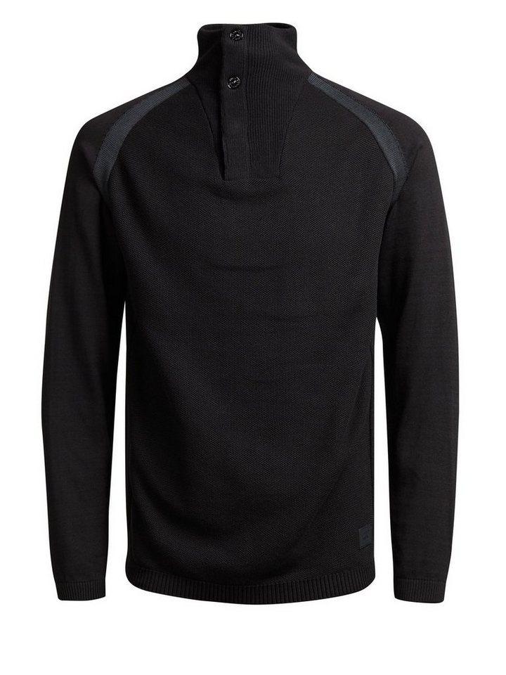 Jack & Jones High-Neck- Pullover in Black