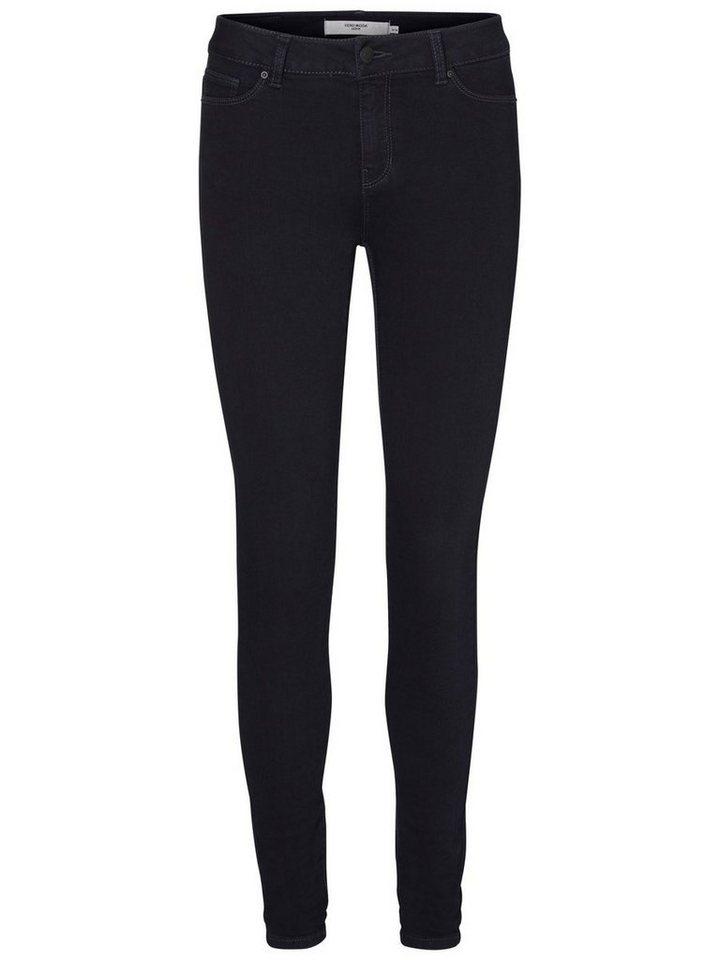 Vero Moda Seven NW Super Skinny Fit Jeans in Dark Blue Denim