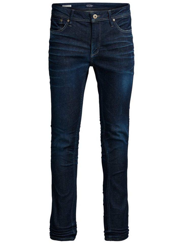 Jack & Jones Liam Original JJ 972 Skinny Fit Jeans in Blue Denim