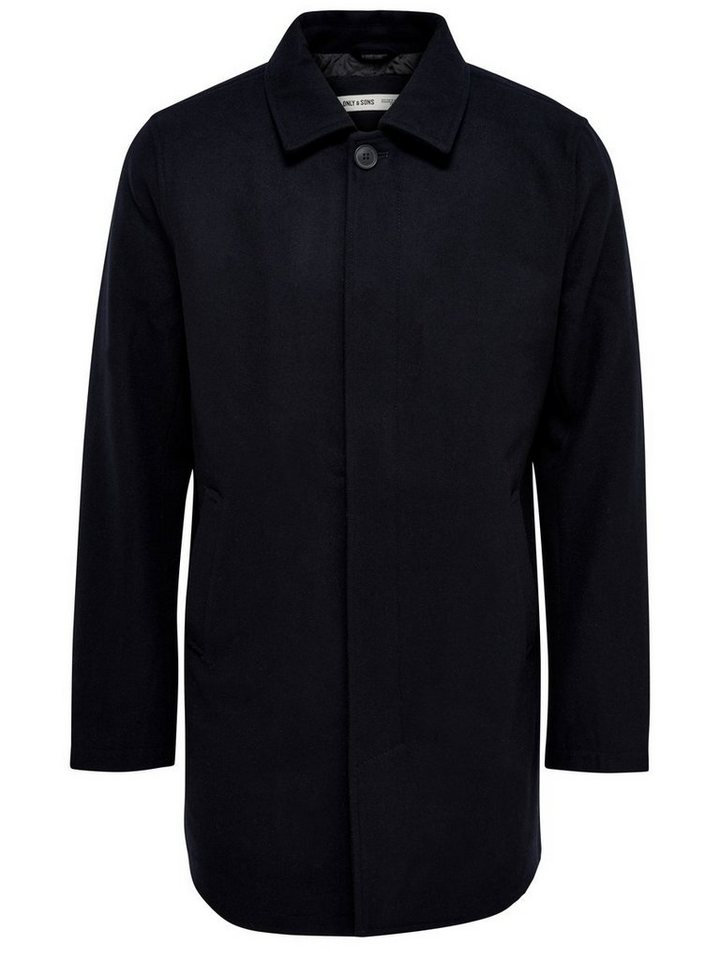 ONLY & SONS Klassisches Trenchcoat in Dark Navy
