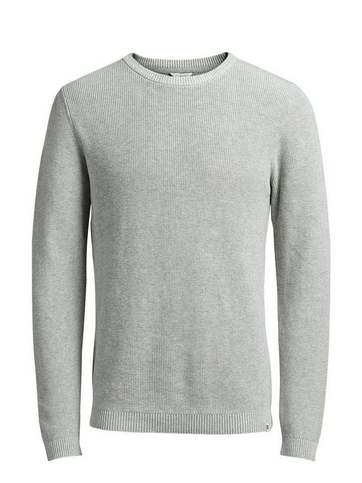 Jack & Jones Clean-Cut- Pullover in Light Grey Melange