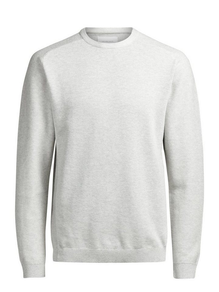 Jack & Jones Minimal strukturierter Pullover in Treated White