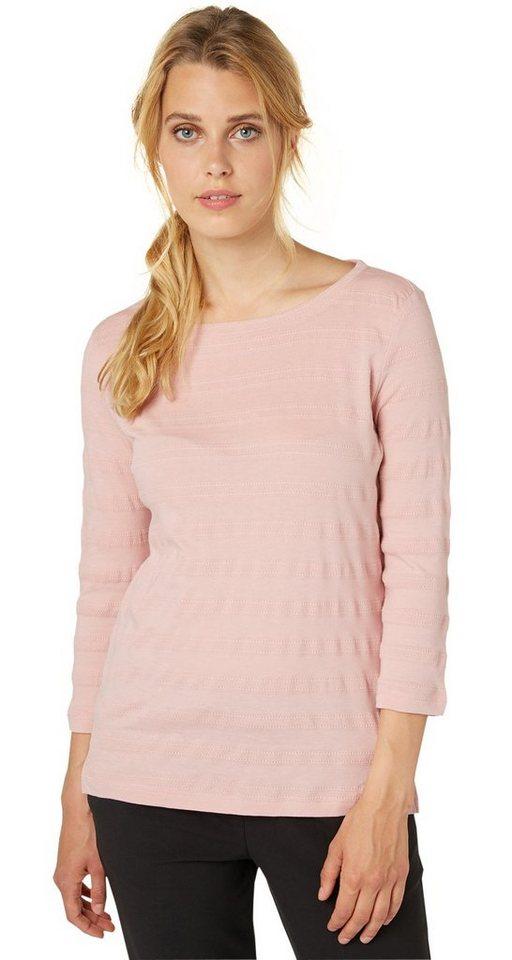 TOM TAILOR T-Shirt »strukturiertes Shirt« in Taste of berry