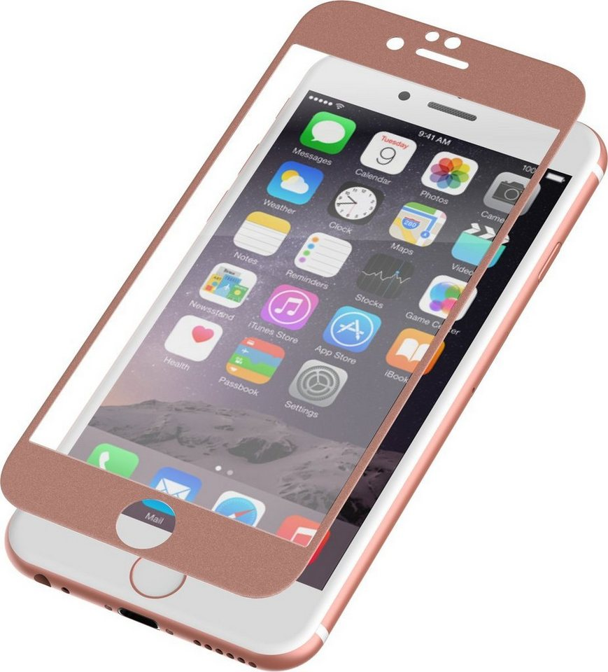 invisibleSHIELD Folie »Glass Luxe Full Screen iPhone 6 Plus« in Roségold-Transparent