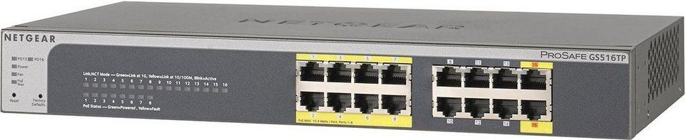 Netgear Switch »GS516TP 16-Port GB PoE/PoE+ SmartSw«