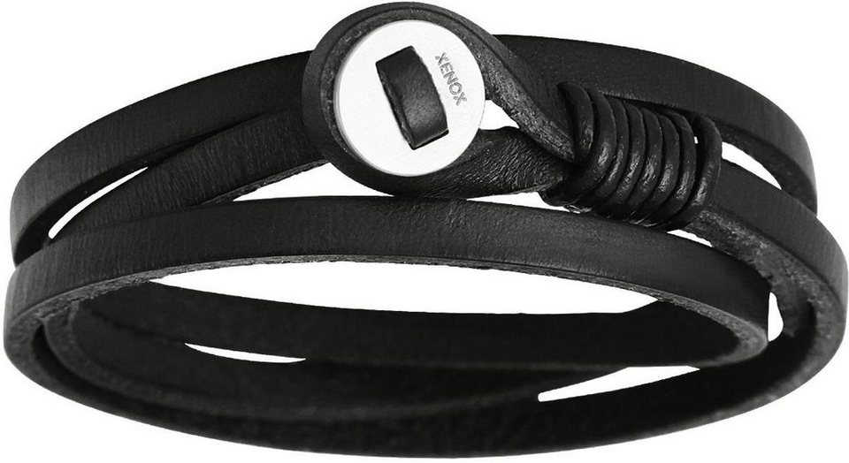 XENOX Armband »X2560« in schwarz-silberfarben