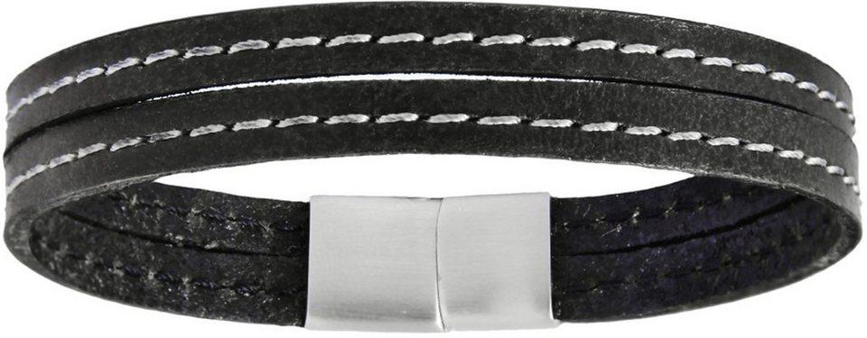 XENOX Armband »X2561B« in schwarz-silberfarben