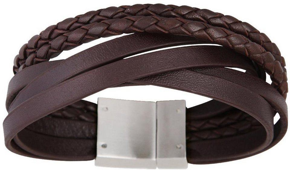 XENOX Armband »X2564S, X2564L« in braun-silberfarben
