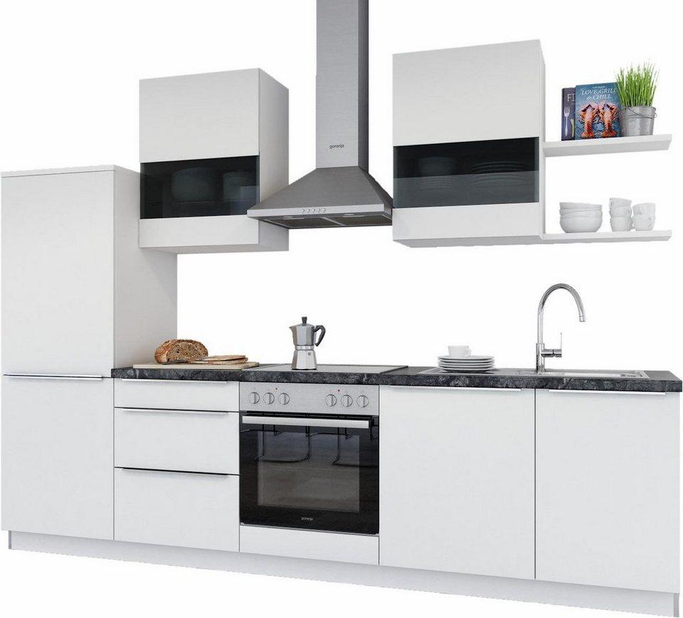 set one by Musterring Küchenzeile ohne E-Geräte »Monza«, Breite 290 cm in weiß