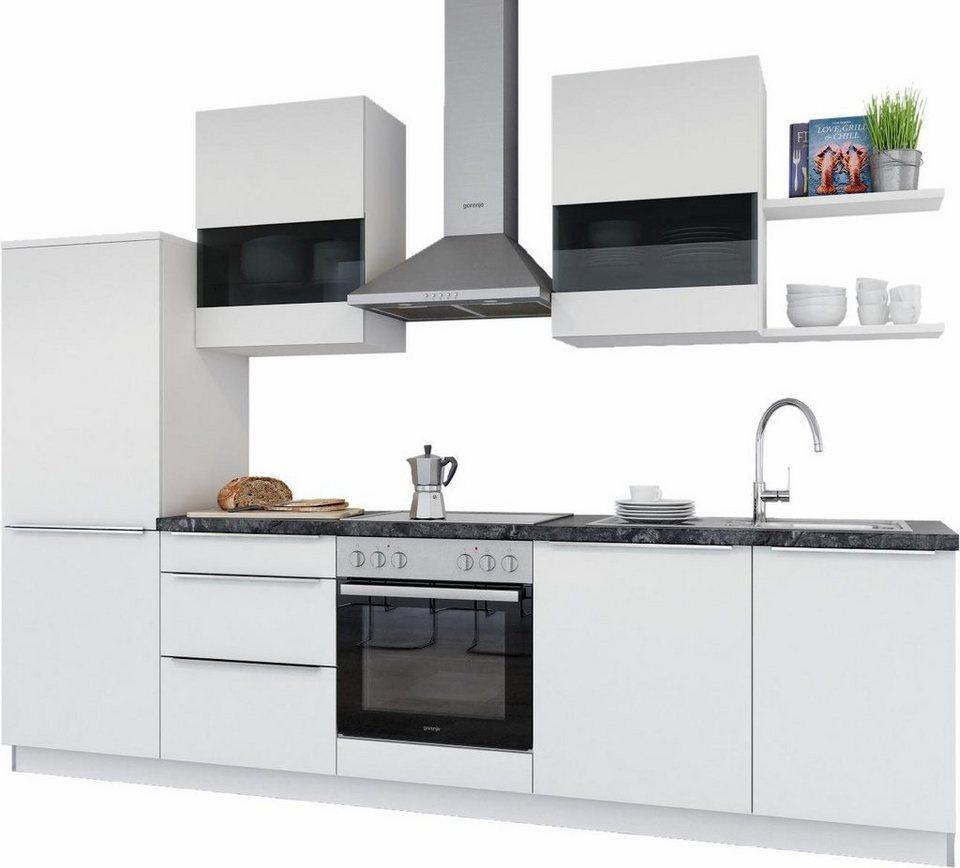 set one by Musterring Küchenzeile mit E-Geräten »Monza«, Breite 290 cm in weiß