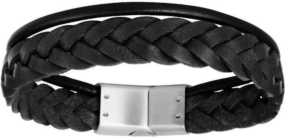 XENOX Armband »X2563S, X2563L« in schwarz-silberfarben