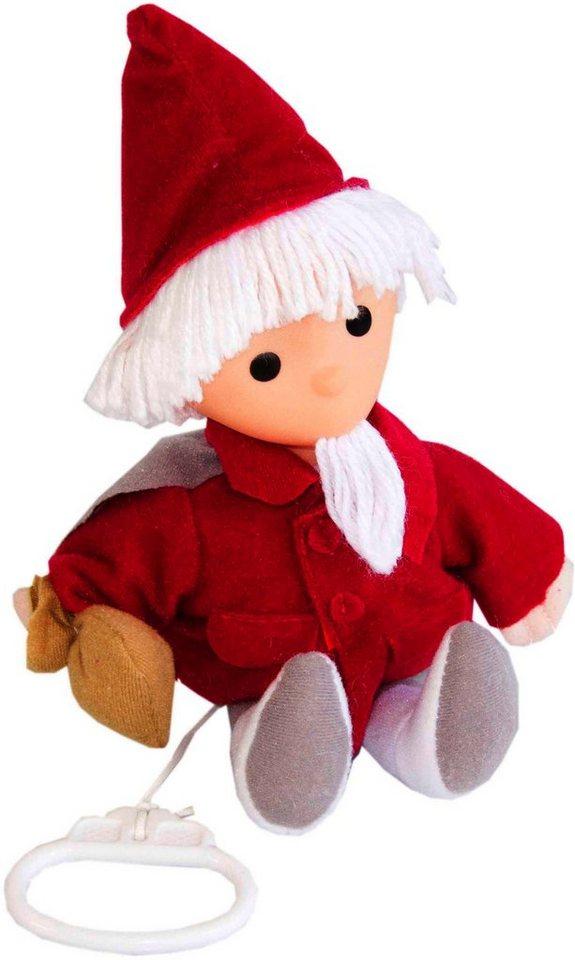 Heunec Plüschfigur, »Sandmann Puppe mit Musikwerk 20 cm« in rot