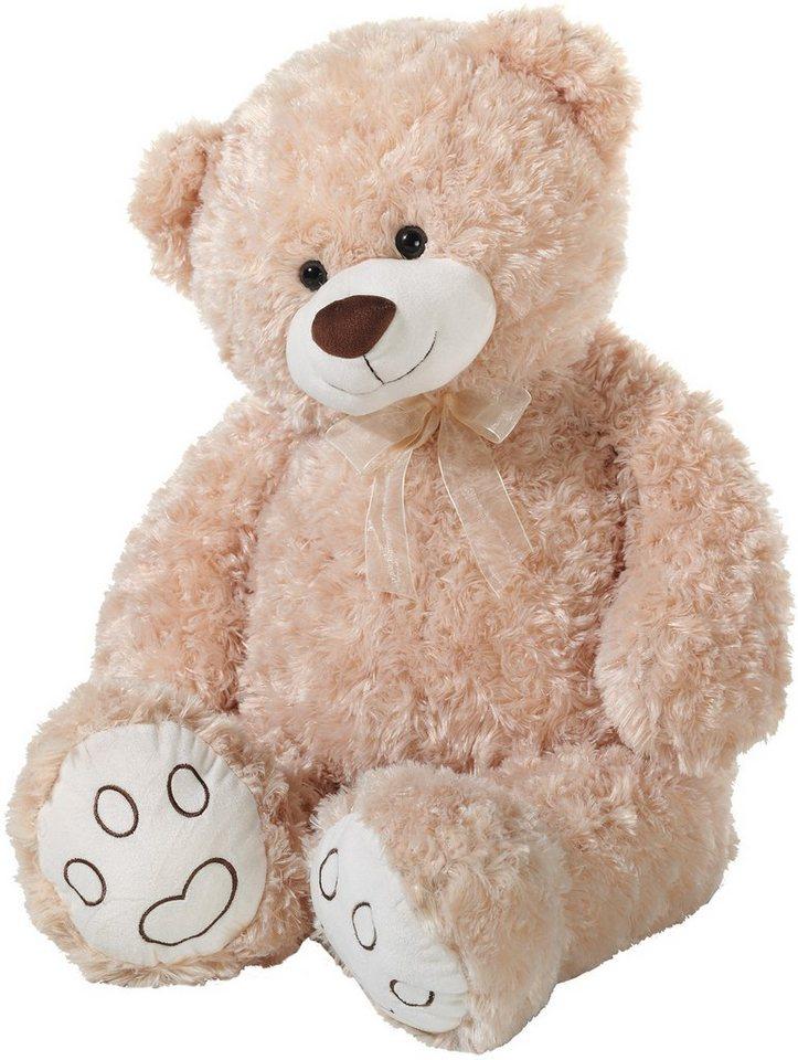 Heunec Schlenkerteddy mit Schleife, beige, »Bär« in braun