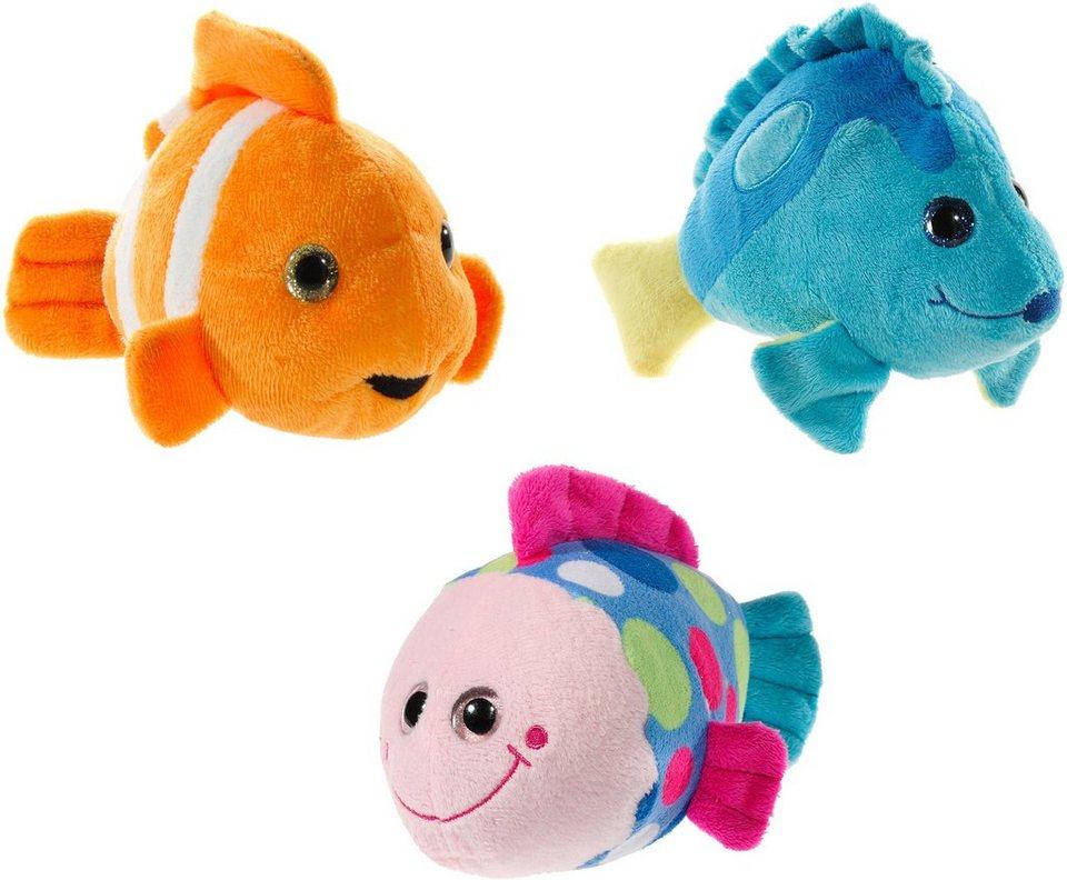 Heunec Set bestehend aus 3 Plüschtierchen, »Fische Set«