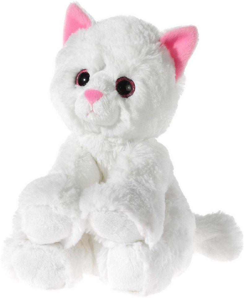Heunec Kuscheltier, weiss, »Glitter Kitty Katzenbaby Weiß, 24 cm« in weiß
