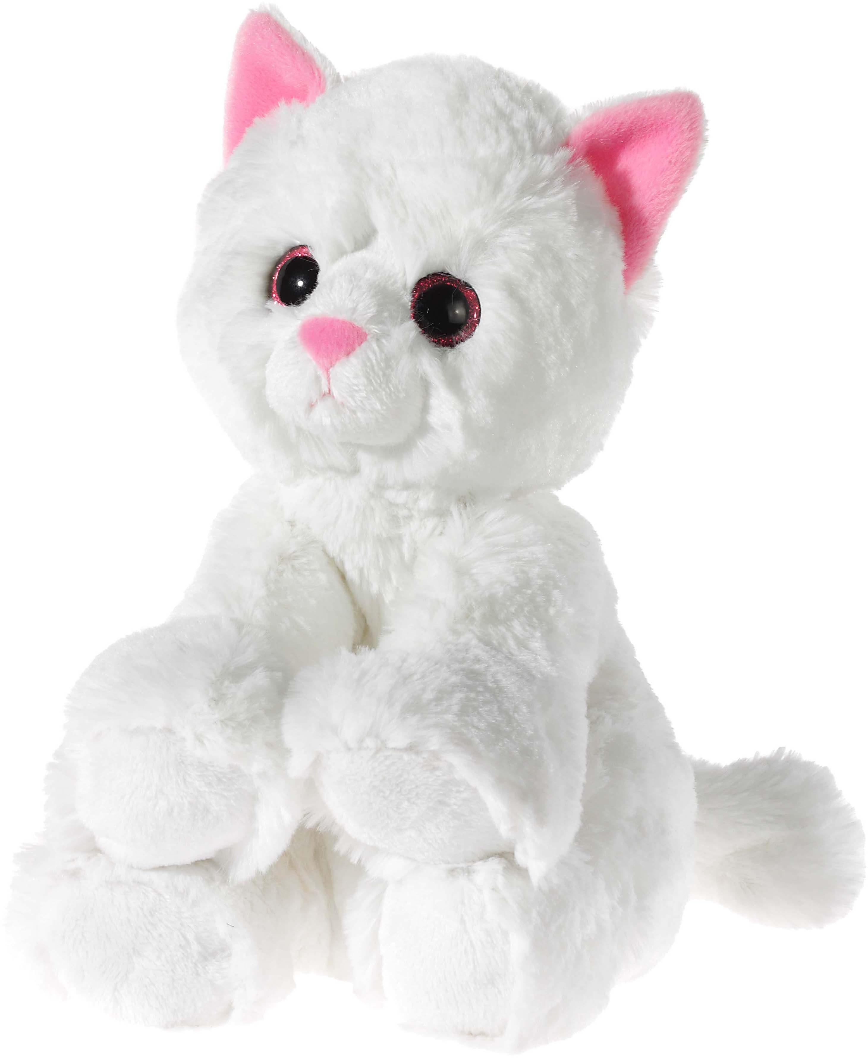 Heunec Kuscheltier, weiss, »Glitter Kitty Katzenbaby Weiß, 24 cm«