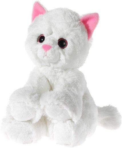 Heunec® Kuscheltier »Glitter Kitty Katzenbaby Weiß, 24 cm«