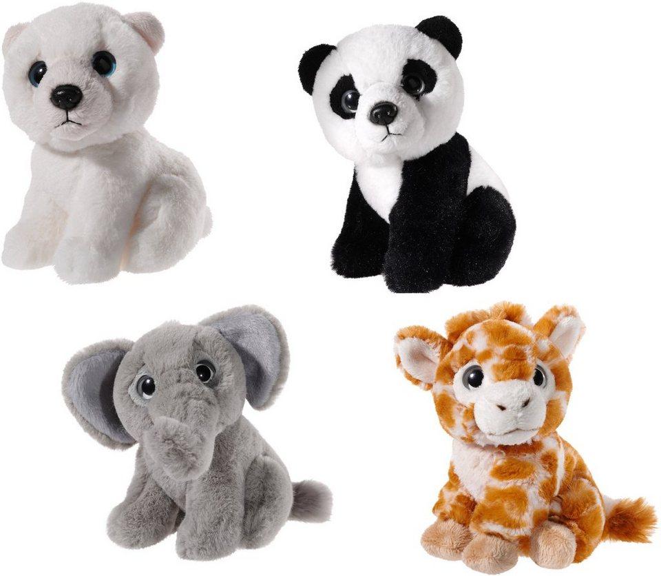 Heunec Set best. aus 4 Tieren Eisbär, Schneetiger, Giraffe, Elefant, »Mini Mi Arktis trifft Safari«