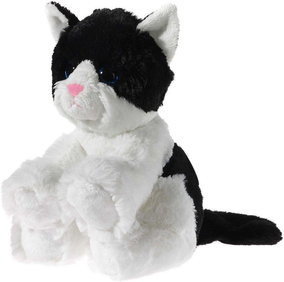 Heunec Kuscheltier, »Glitter Kitty Katzenbaby Schwarz-Weiß, 24 cm«