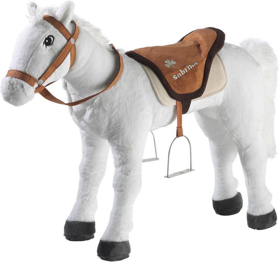 Heunec Plüschtier, »Bibi & Tina Pferd Sabrina stehend 75 cm« in weiss