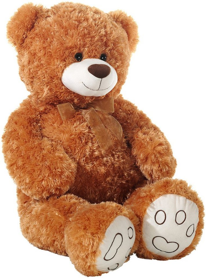 Heunec Schlenkerteddy mit Schleife, braun, »Bär« in beige