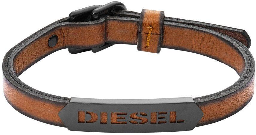 Diesel Armband, »Stackables, DX1000060« in grau-hellbraun