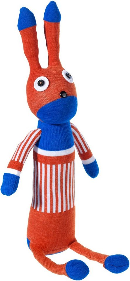 Heunec Kuscheltier, »Dolle Socke Hase Orange-Blau«