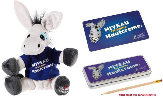 Heunec® Plüschfigur »My little Murphy, Niveau ist keine Hautcreme« (3-St), mit Frühstücksbrettchen und Stiftebox
