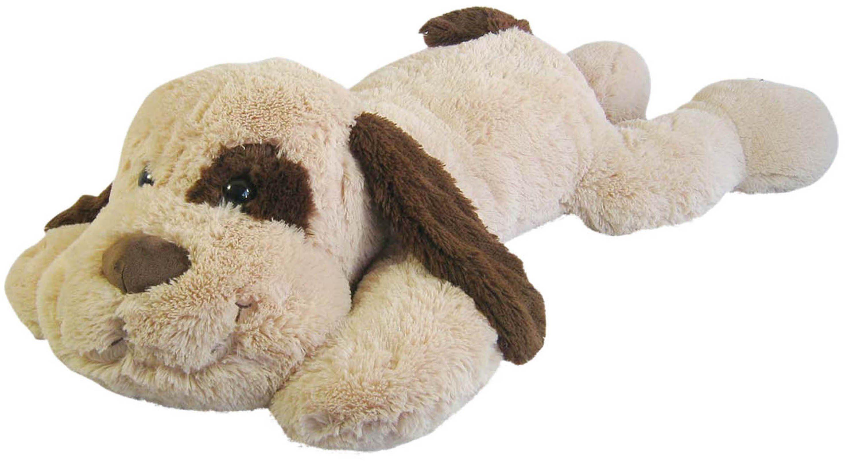 Heunec Kuscheltier, »Hund liegend XL beige/braun«
