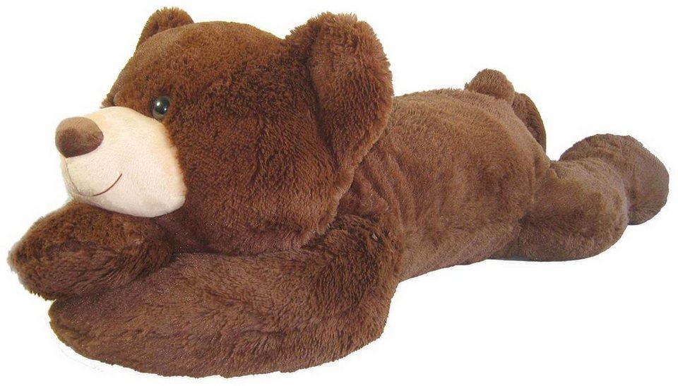 Heunec Plüschteddy, »Bär liegend XL braun« in dunkelbraun