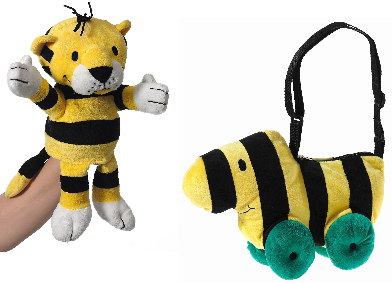 Heunec Set bestehend aus Handspielpuppe Tiger und Stoffschultertasche Tigerente, »Janosch Set«