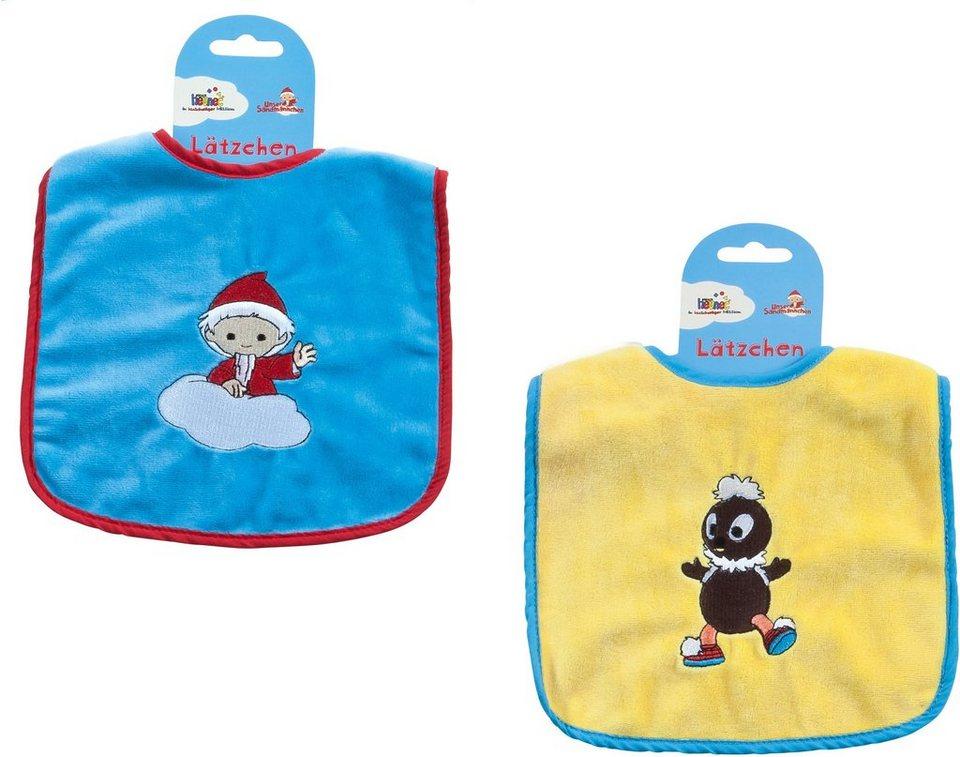 Heunec Baby Lätzchen Set 2tlg. mit Sandmann- und Pittiplatschmotiv, »Sandmann Lätzchen Set«