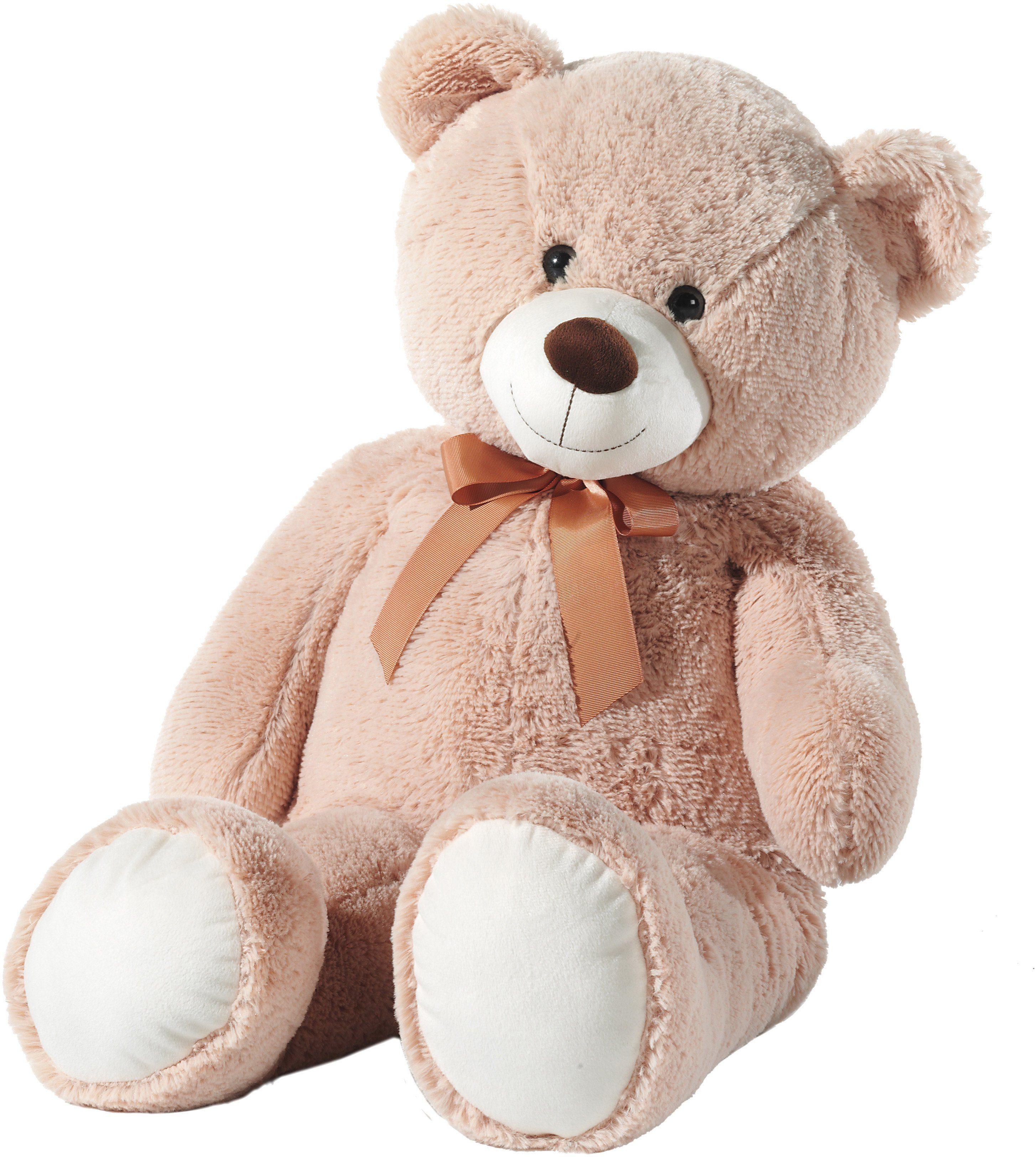 Heunec Schlenkerteddy mit Schleife, beige , »Bär«