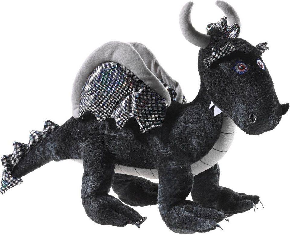 Heunec Kuscheltier, »Drache stehend schwarz 50 cm« in schwarz