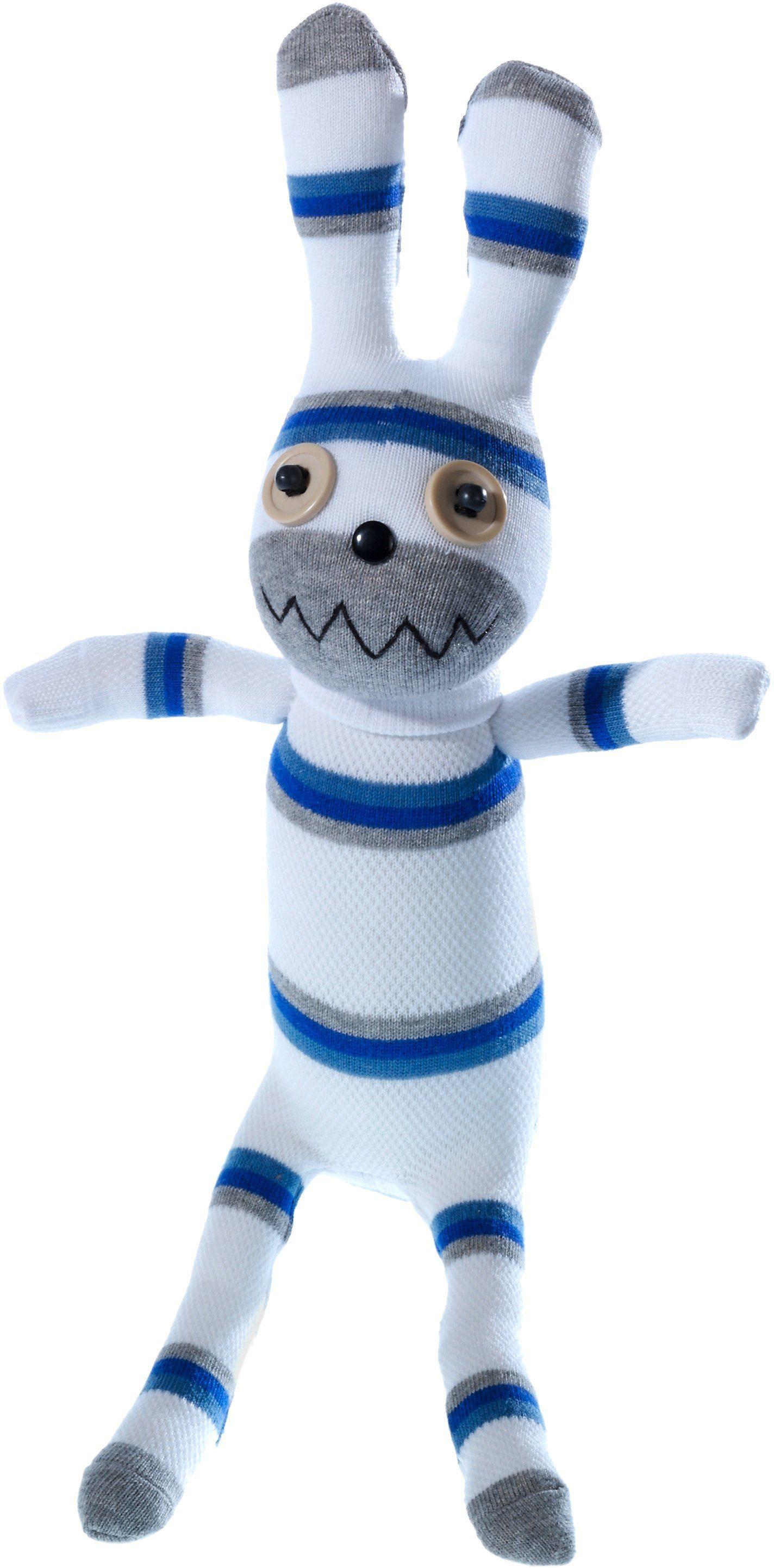 Heunec Kuscheltier, »Dolle Socke Hase Weiß-Blau«