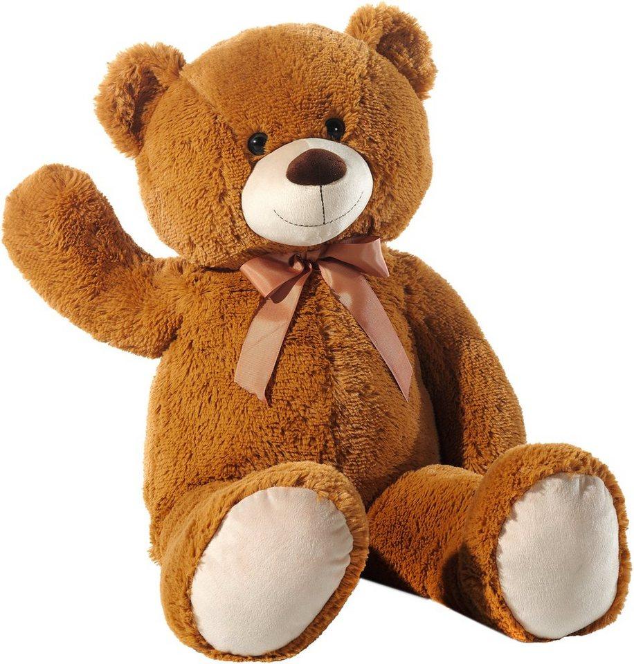 Heunec Schlenkerteddy mit Schleife, braun, »Bär« in braun