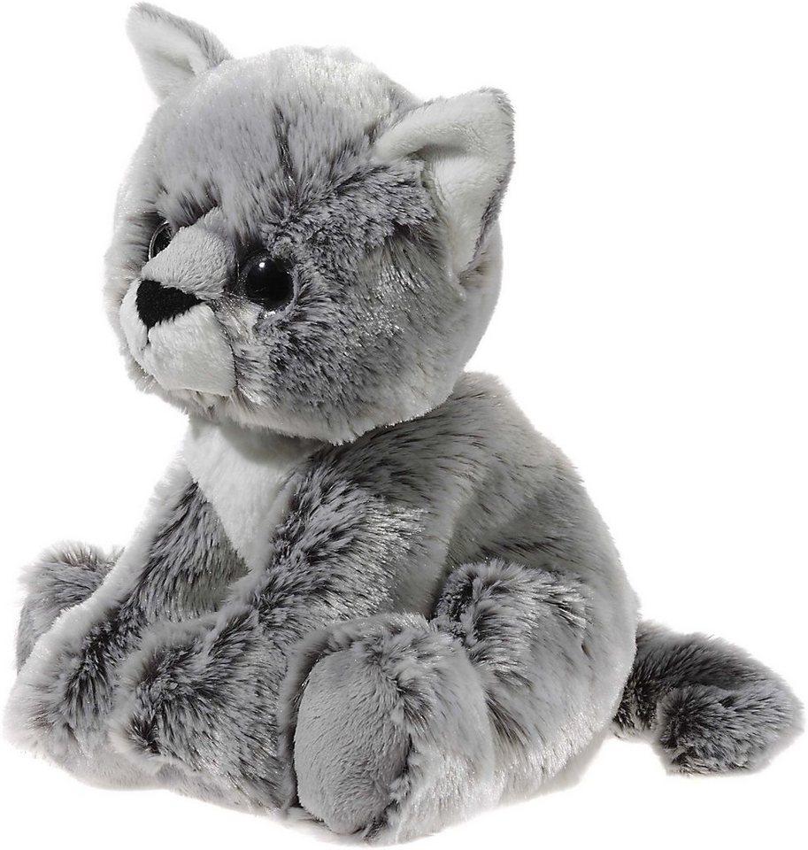 Heunec Kuscheltier, grau, »Glitter Kitty Katzenbaby Graumeliert, 24 cm« in grau