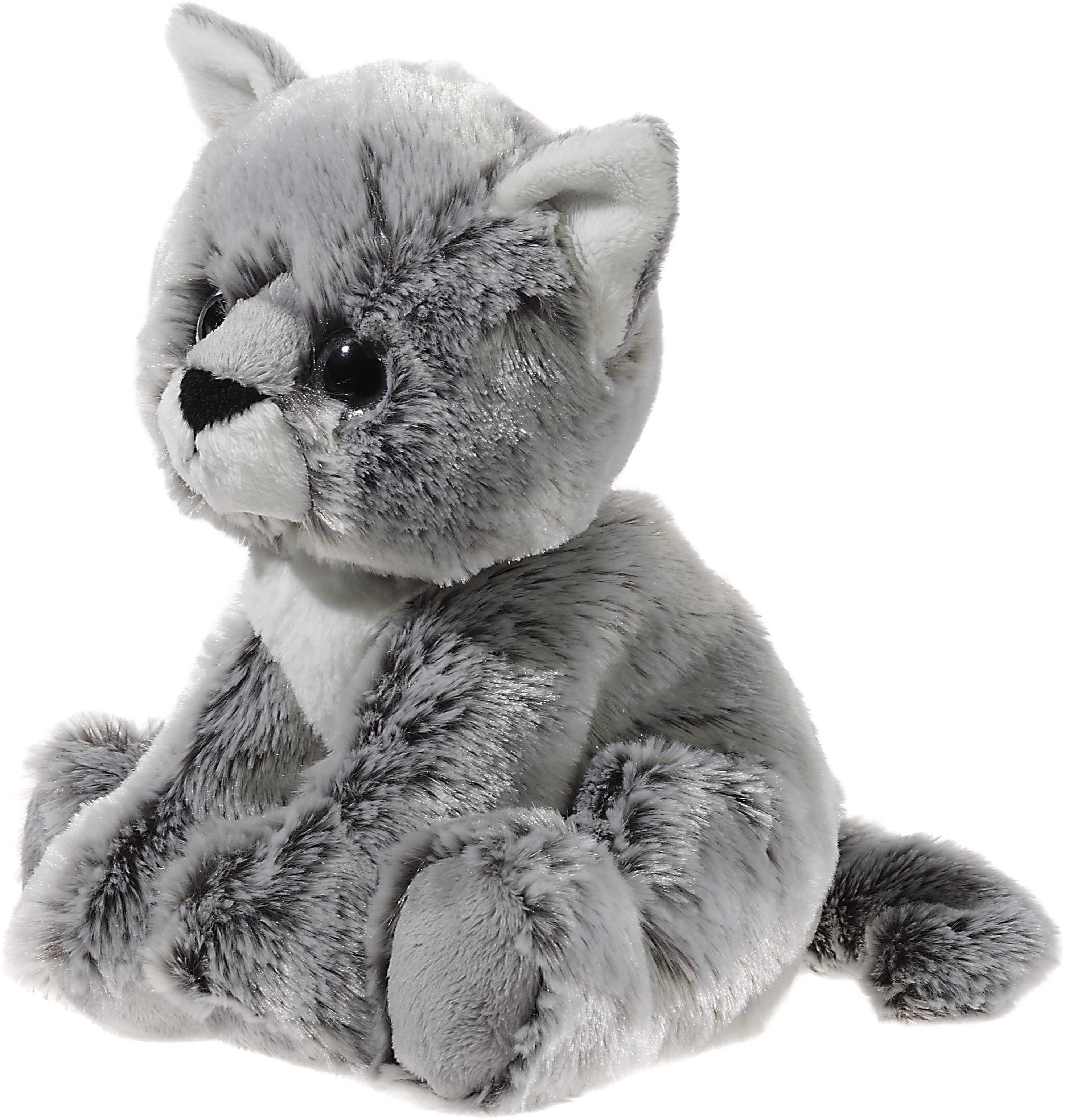 Heunec Kuscheltier, grau, »Glitter Kitty Katzenbaby Graumeliert, 24 cm«