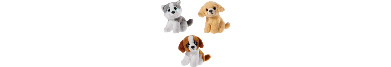 Heunec Set bestehend aus 3 Stofftieren Husky Golden Retriever und Bernhardiner, »Mini Mi Hunde Set«