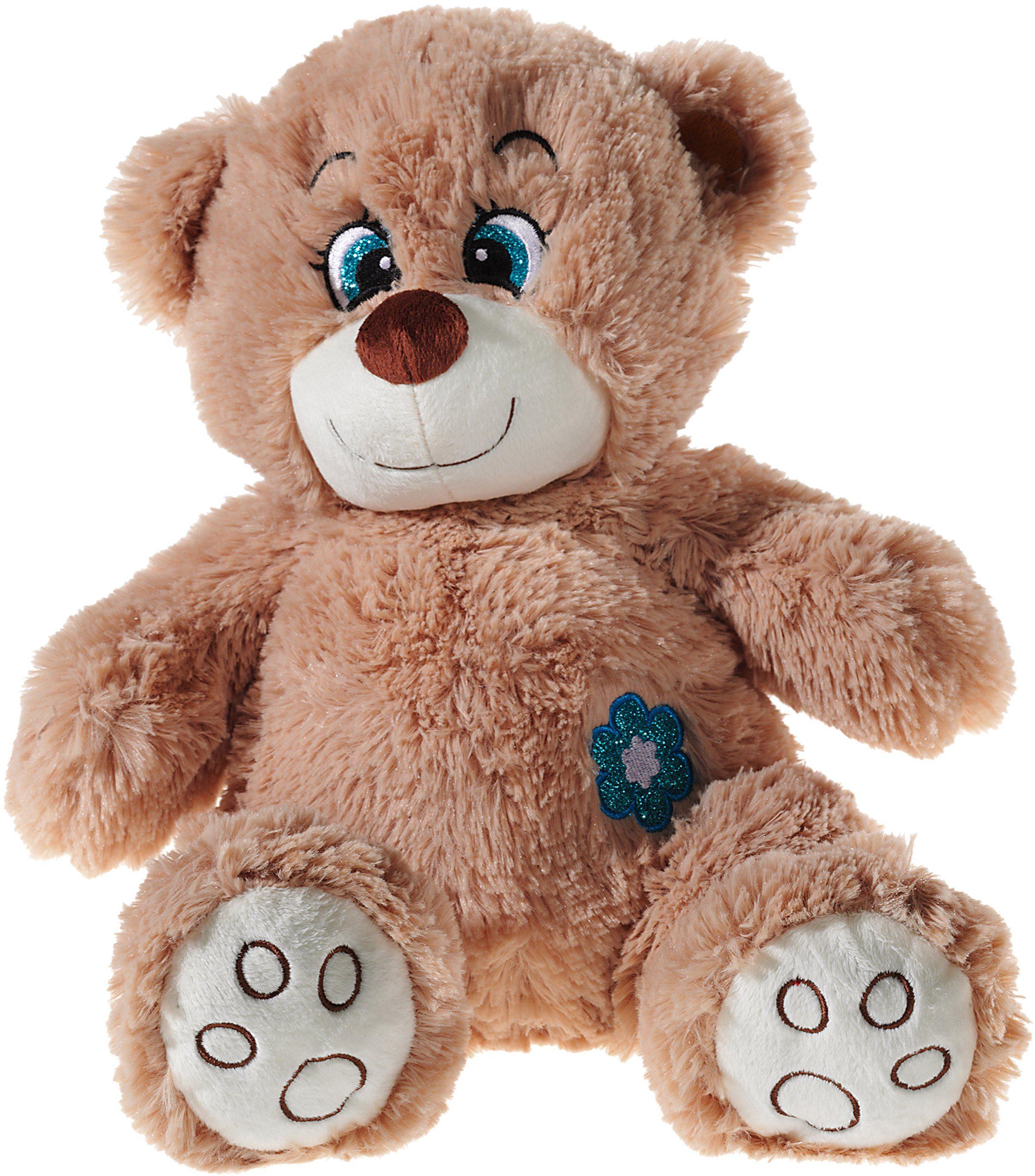 Heunec Kuschelbär, braun, »Glitzer Teddy«
