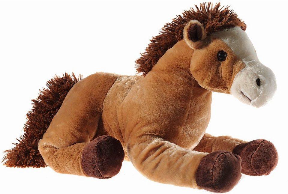 Heunec Kuscheltier, »Pferd liegend 62 cm braun« in mittelbraun