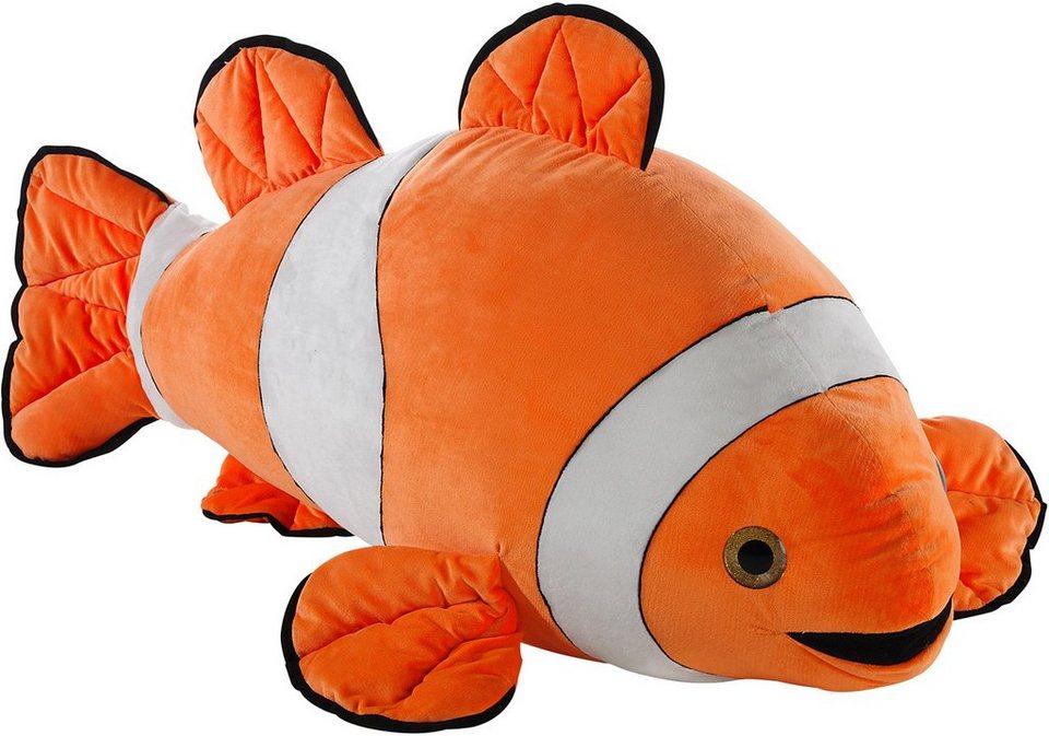 Heunec Kuscheltier, »Fisch XL« in orange-weiss