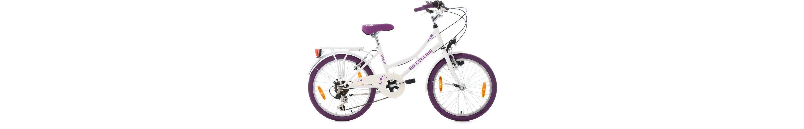 KS Cycling Jugendfahrrad, 20 Zoll, 6 Gang Shimano Kettenschaltung, »Starlit«