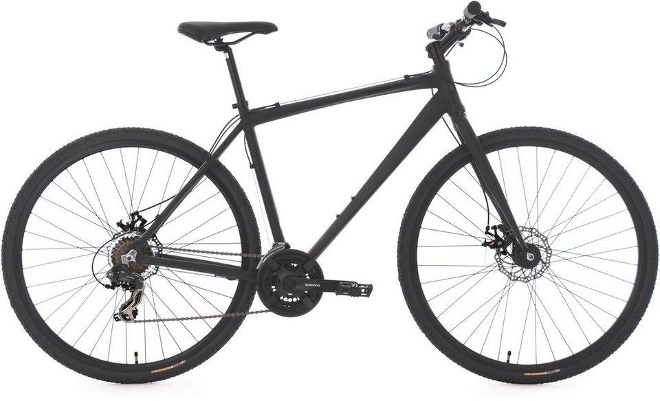 KS Cycling Herren-Cityrad, 28 Zoll, 21 Gang Shimano Kettenschaltung, »UBN77« in schwarz